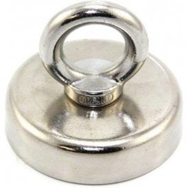 60mm dia N42 Neodymium Clamping Magnet with M8 Eyebolt - 139kg Pull ( Pack of 10 )