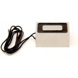 63.5 x 38.1 x 31.75mm thick Electromagnet with 5mm Mounting Hole - 91kg Pull (12V DC / 5W)