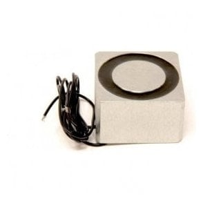 63.5 x 63.5 x 38.1mm thick Electromagnet with 6mm Mounting Hole - 204kg Pull (12V DC / 8W)