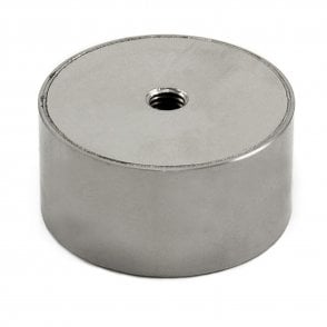 63mm dia x 31.5mm thick Stainless Steel Encased N42 Neodymium Magnet - 80kg Pull