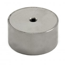 63mm dia x 31.5mm thick Stainless Steel Encased N42 Neodymium Magnet - 80kg Pull (Pack of 1)