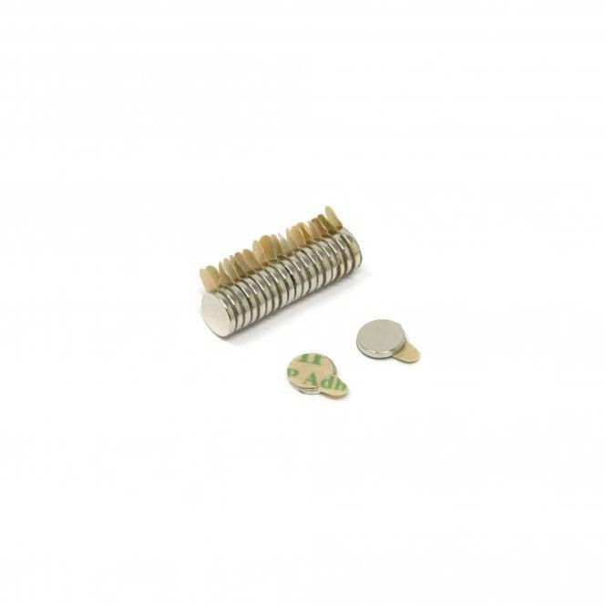 6mm dia x 1mm N35 Neodymium EasyPeel Adhesive Magnet - 0.33kg Pull