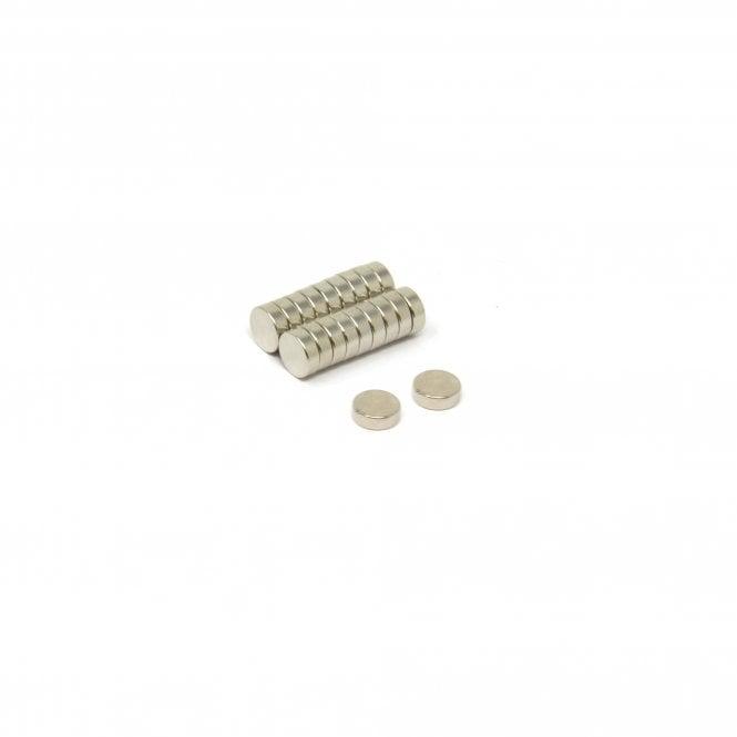 6mm dia x 2mm thick N42 Neodymium Magnet - 0.73kg Pull