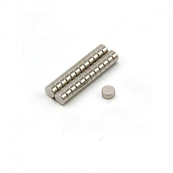 6mm dia x 3mm thick N35 Neodymium Magnet - 0.68kg Pull