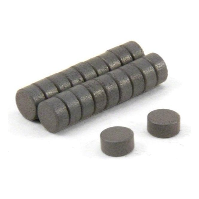 6mm dia x 3mm thick Y10 Ferrite Magnets (Pack of 100) (discoloured)