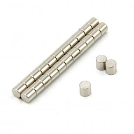 6mm dia x 6mm thick N42 Neodymium Magnet - 1.4kg Pull (Pack of 250)