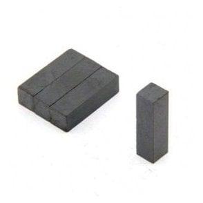 7 x 7 x 25mm thick Y30BH Ferrite Magnet - 0.28kg Pull