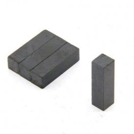 7 x 7 x 25mm thick Y30BH Ferrite Magnet - 0.28kg Pull (Pack of 80)