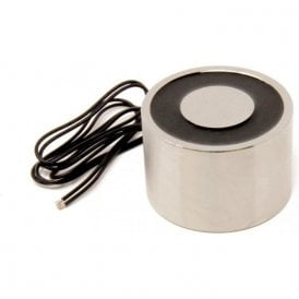 76.2mm dia x 50.8mm thick Electromagnet with 6mm Mounting Hole - 226kg Pull (12V DC / 12W)
