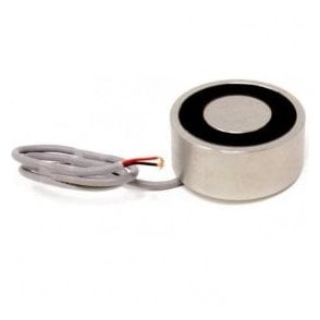 88.9mm dia x 38.1mm thick Electromagnet with 6mm Mounting Hole - 300kg Pull (12V DC / 8W)