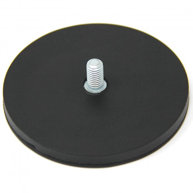 88mm dia x 8mm thick Rubber Coated POS Magnet c/w M6 x 15mm External Thread