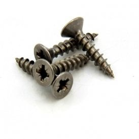 8mm dia Head x 3.9mm dia thread x 19mm Long Stainless Steel Screws (Pack of 10)