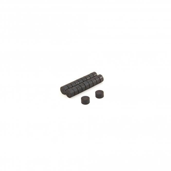 8mm dia x 4mm thick Y10 Ferrite Magnets - 0.084kg Pull