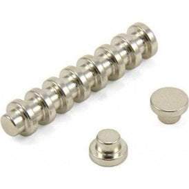 "8mm dia x 5mm thick N42 Neodymium ""Top Hat"" Magnet - 1kg Pull"
