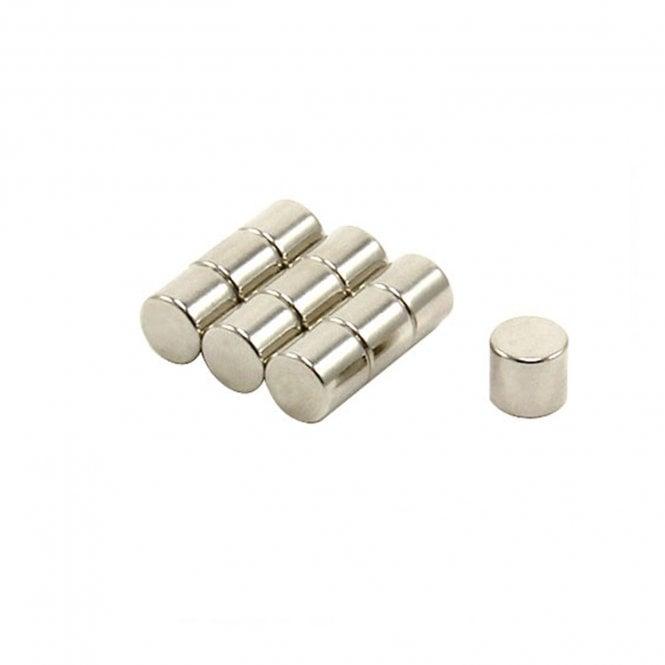 8mm dia x 7.25mm thick N42 Neodymium Magnet - 2.4kg Pull