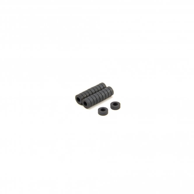 8mm O.D. x 4mm I.D. x 3mm thick Y10 Ferrite Magnets - 0.07kg Pull