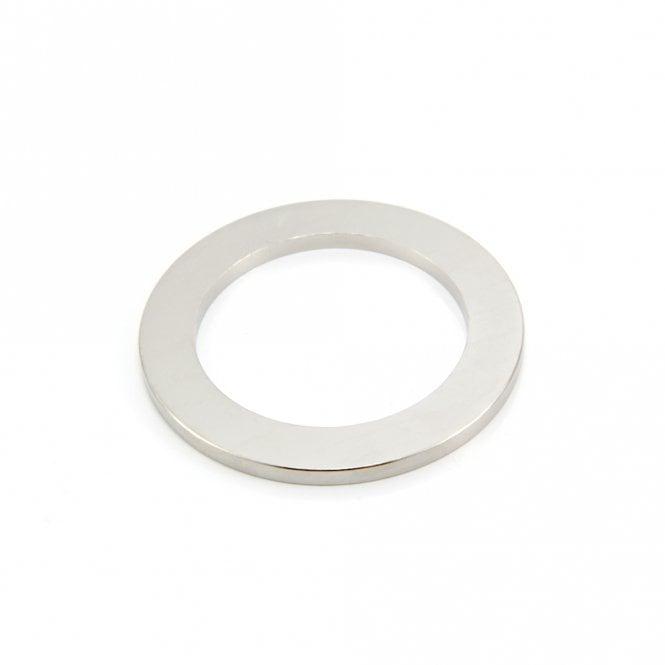 90mm O.D x 64mm I.D x 5mm thick N42 Neodymium Magnet - 16.3kg Pull
