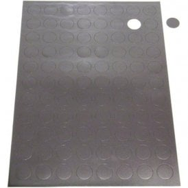 A4 Sheet of 88 Self Adhesive Magnetic Dots (20mm dia x 0.7mm)