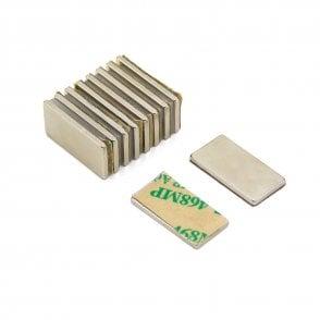 Adhesive 20 x 10 x 1.5mm thick N42 Neodymium Magnet - 2kg Pull