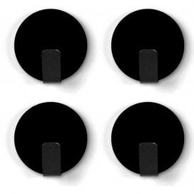 Magnetic hook SOLID, Set of 4, Black, Anti-Slip