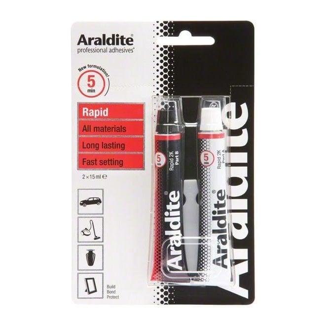 Araldite Rapid Adhesive - Sets In 5mins (2 x 15ml)