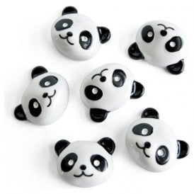 Assorted Animal Style Office Magnets - Panda (1 set of 6)