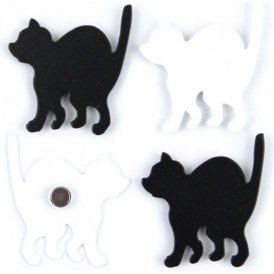 Assorted Deco Office Magnets - Kitty ( 1 set of 4 )