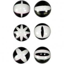 Assorted Domed Circular Office Magnets - Graphic (1 set of 6)