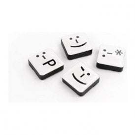 Assorted Icon / App Style Magnets - Emoticons ( 1 set of 4 )
