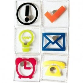 Assorted Office Symbol / Icon Magnets (1 set of 6)