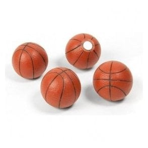 Assorted Popular Shape Office Magnets - Basketball (1 set of 4)
