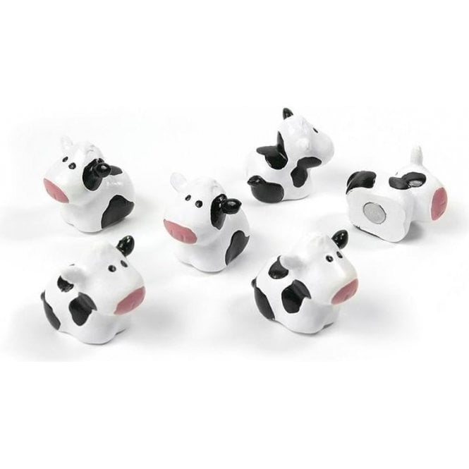Assorted Popular Shape Office Magnets - Cow ( 1 set of 6 )