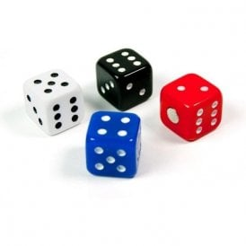 Magnets DICE, Set of 4, Assorted