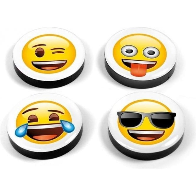 Assorted Popular Shape Office Magnets - Emoji Mix (1 set of 4)