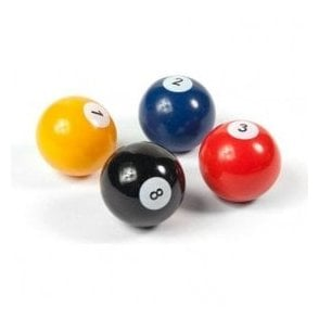Assorted Popular Shape Office Magnets - Pool Ball ( 1 set of 4 )
