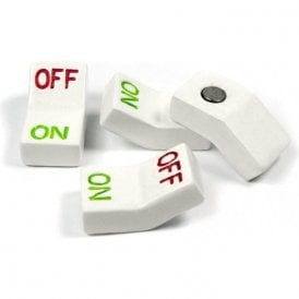 Assorted Popular Shape Office Magnets - Switch (1 set of 4)