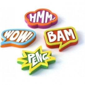 Expression Magnets COMIC, Set of 4, Assorted