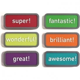 Assorted Rubber Expression Magnets - Motivation