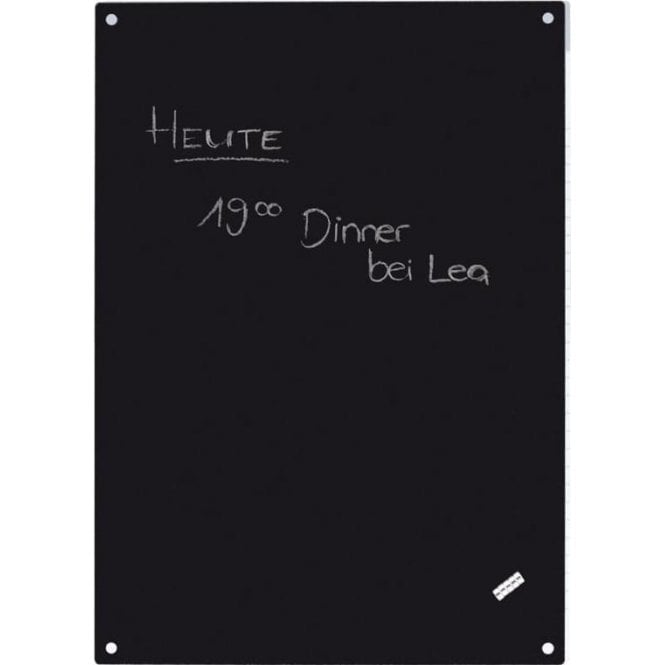 Black A4 Magnetic Chalk Board c/w 5 Magnets (297 x 210mm)
