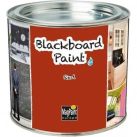 Blackboard Paint by MagPaint 0.5 litre (5sqm coverage) - Red (Pack of 1)