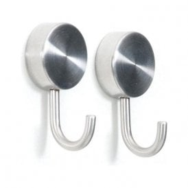 Brushed Stainless Steel Magnetic Hooks