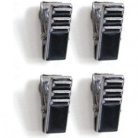 Chrome Magnetic Crocodile Clips (1 set of 4)