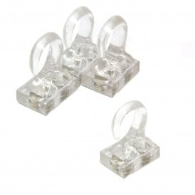 Clear Plastic Magnetic Hooks - 2kg Pull (26 x 19 x 38mm) (Pack of 4)