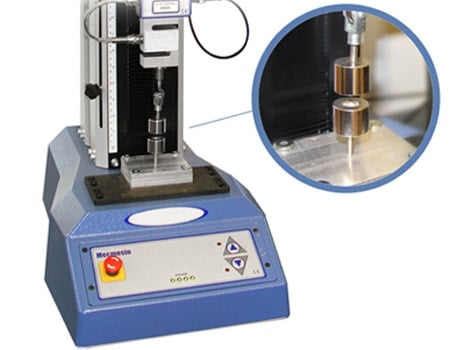 Pull test machine testing repulsion force of two neodymium magnets