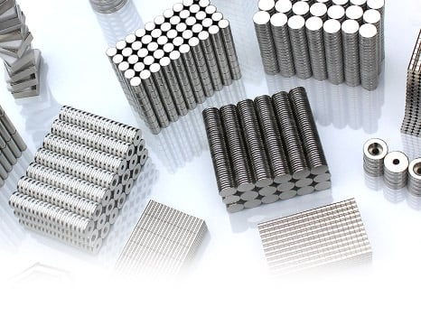 a selection of neodymium magnets
