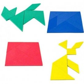 Coloured Educational Tangram - Logic Puzzle & Maths Game