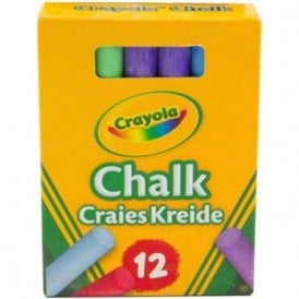 Crayola Anti-Dust Chalks - Multicoloured (1 Pack of 12)