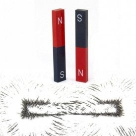 Educational Alnico Bar Magnet & Iron Filings Set - Science & Education (1 Set)