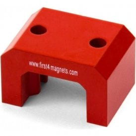 Extra Large Red Alnico Horseshoe Magnet - 23kg Pull (58 x 35 x 40.5)