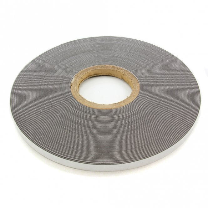FerroFlex® 12.5mm Wide Ferrous Strip - 3M™ Self-Adhesive / Gloss White
